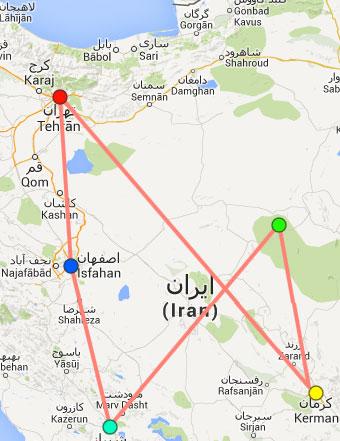 Recorrido del circuito Explorar Irán (13 días)
