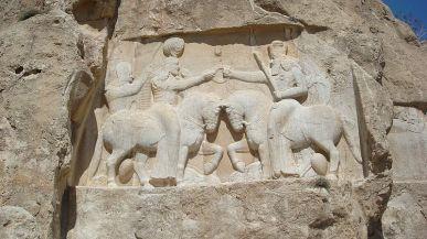 Relieve de Ardashir I en Naqsh-i Rustam